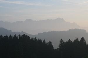 Sicht auf den Alpstein mit Säntis